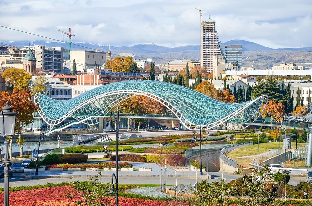 Tbilisi has local landmark friendship bridge